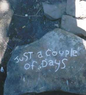 "Graffiti inspiration for ""Just a Couple of Days"", by Tony Vigorito"
